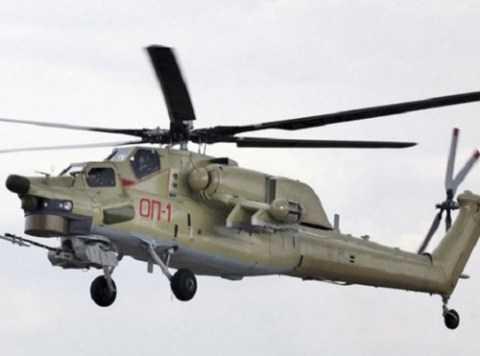 Ảnh Mi-28UB khi bay thử vào năm 2014