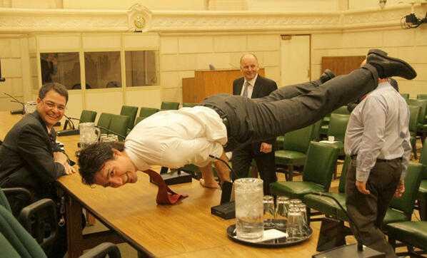 Bức ảnh đặc biệt của Thủ tướng Canada Justin Trudeau