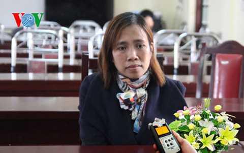 Cô giáo Trần Thị Thu Trà.