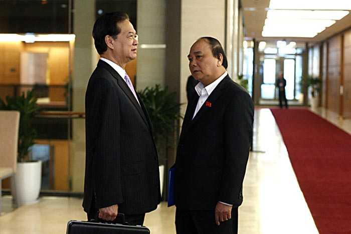 Ông Nguyễn Xuân Phúc được đề cử thay vị trí Thủ tướng của ông Nguyễn Tấn Dũng mới được Quốc hội miễn nhiệm chiều 6/4 (Ảnh: Việt Hưng)