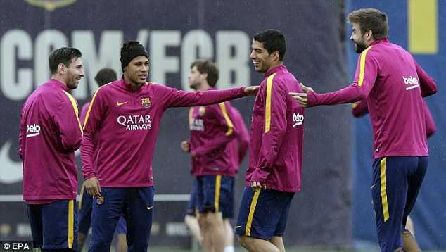 Barca vui vẻ trước trận đấu với Espanyol