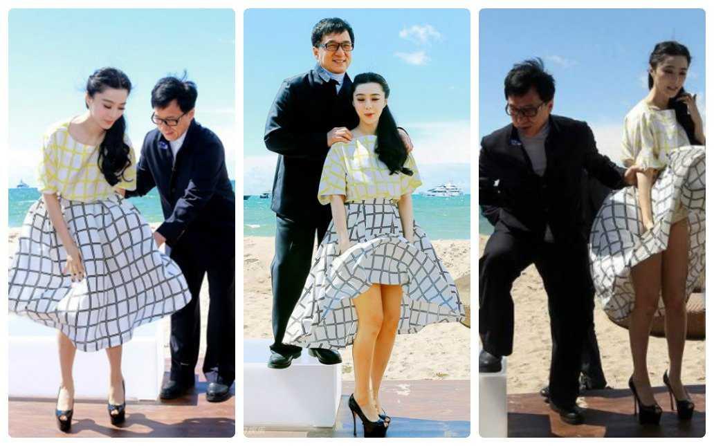 Trong lần cùng Thành Longtham dự Liên hoan phim Cannes đểquảng bá choSkiptrace(Dấu vết bỏ lỡ- 2015),Phạm Băng Băng đã bất ngờ bị gió thổi tốc váy khiến cô nàng vô cùng bối rối.