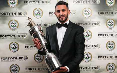 Mahrez nhận danh hiệu cầu thủ xuất sắc nhất mùa giải do PFA bầu chọn