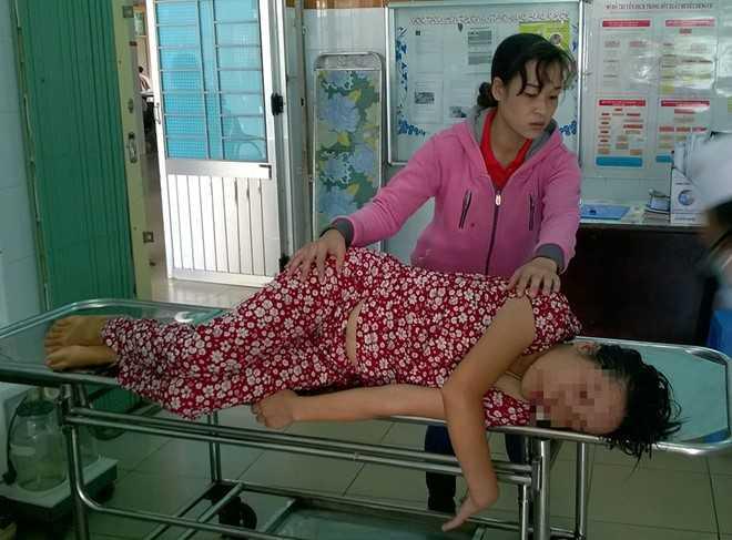 Thai phụ Nguyễn Thị H. nhập viện cấp cứu trong tình trạng nguy kịch. Ảnh:  L.H