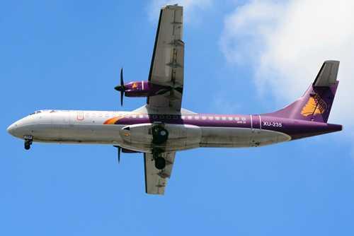 Một chiếc ATR72 của hãng Cambodia Angkor Air. Ảnh: YMB