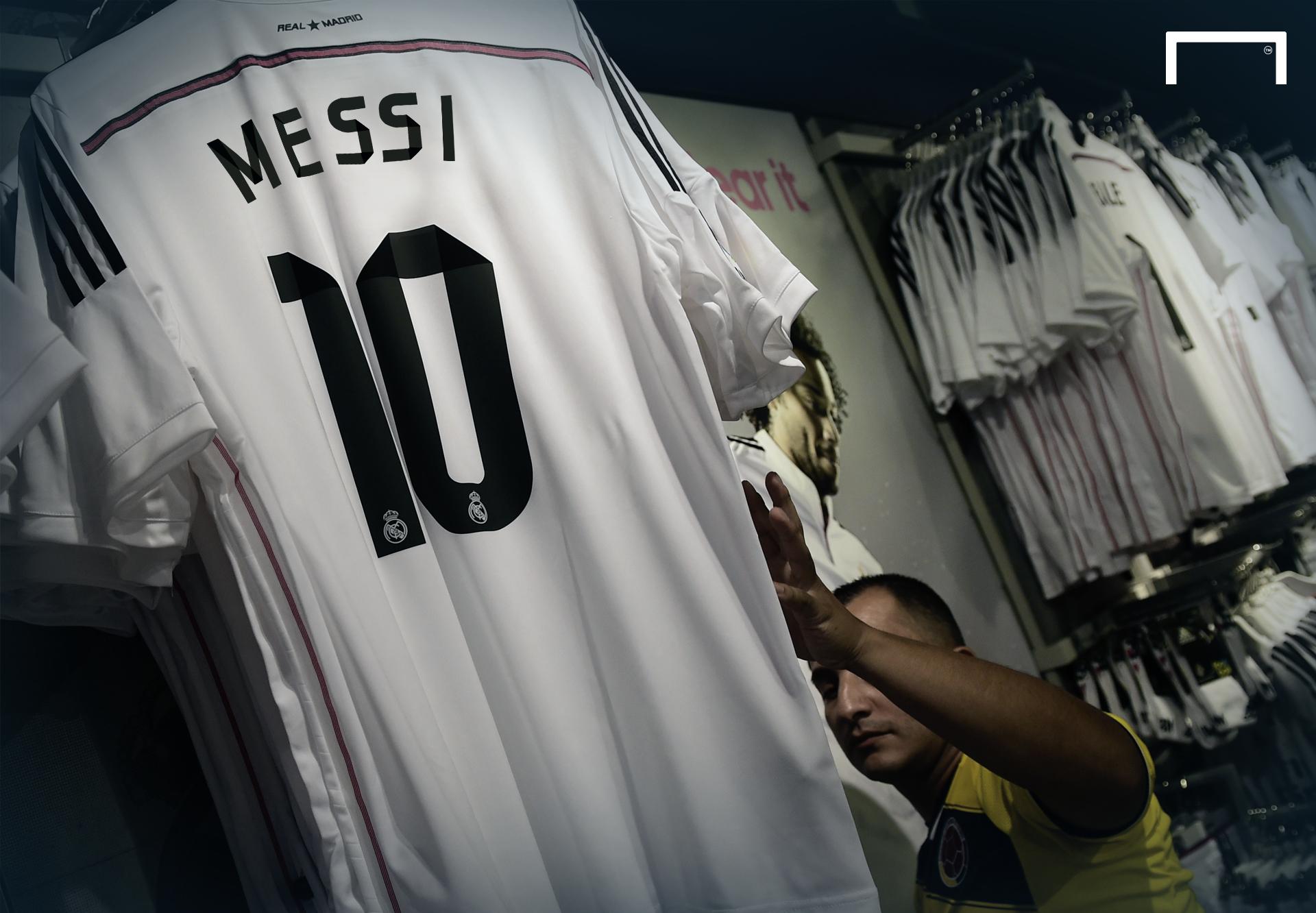 Áo đấu Messi đã được Real Madrid chuẩn bị sẵn