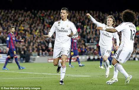 Ronaldo đã ghi 15 bàn vào lưới Barcelona