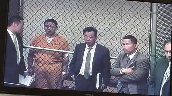 Minh Béo tại toà án trung tâm quận Cam ngày 15/4 vừa qua.
