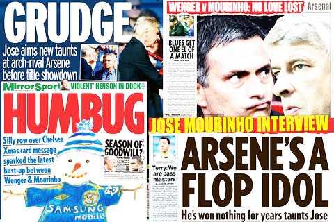 Cuộc chiến Mourinho-Wenger đã quá quen thuộc
