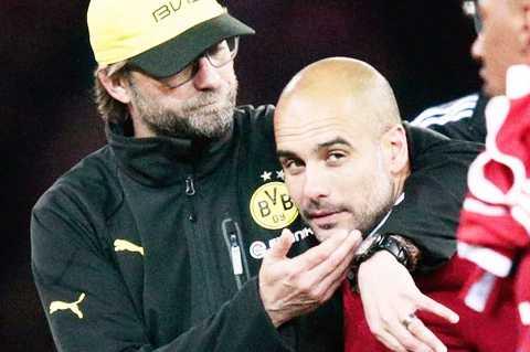 Pep và Klopp từng là kình địch ở Bundesliga, và giờ là Premier League
