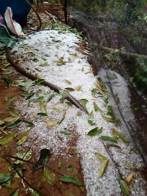 Hình ảnh mưa đá tại Thị xã Buôn Hồ