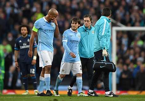 Mất David Silva, hàng tiền vệ của Man City gặp khó khăn trong việc tạo ra cơ hội