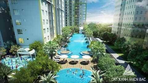 Seasons Avenue có tầm nhìn trọn bể bơi tuyệt đẹp