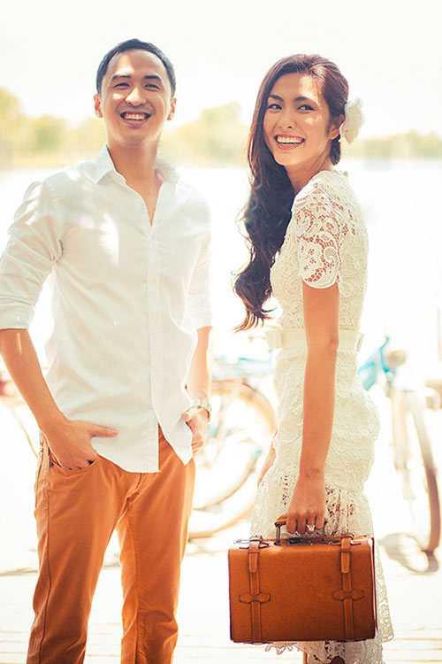 Ảnh cưới lãng mạn của 'ngọc nữ' Hà Tăng và thiếu gia Louis Nguyễn.