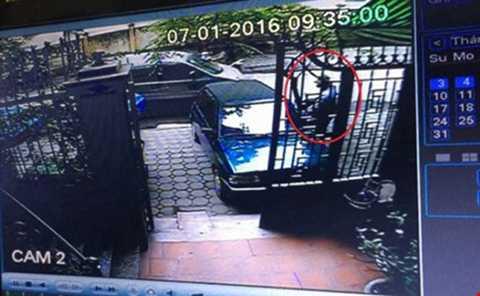 Hình ảnh tên trộm trong camera an ninh