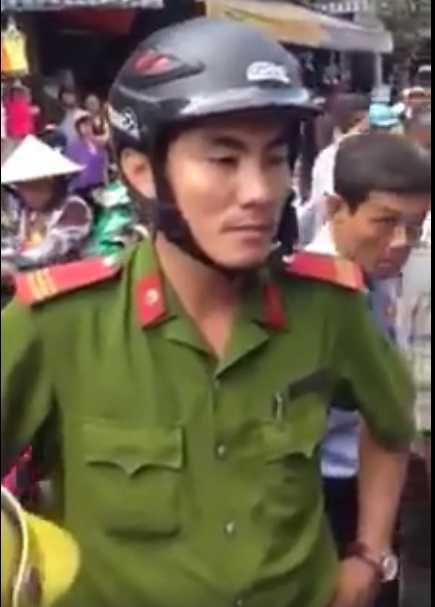 Thượng sỹ Lương Việt Hà - Ảnh cắt từ clip