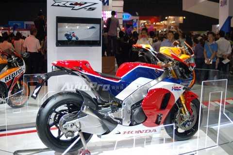 Honda RC213V-S trong triển lãm mô tô xe máy Việt Nam 2016.