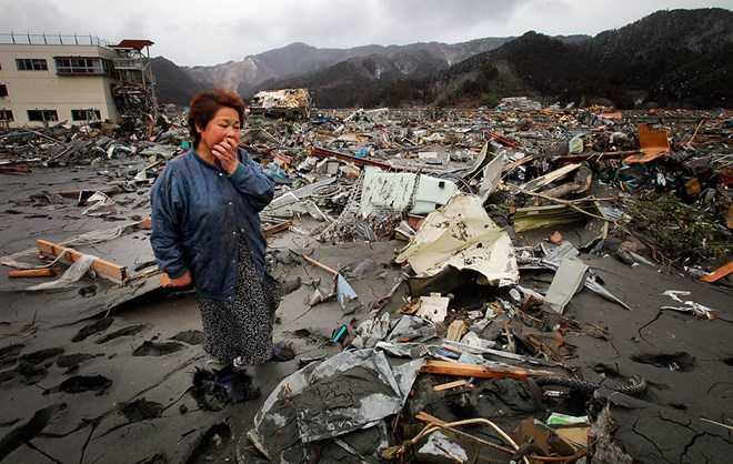 Trận động đất sóng thần hồi năm 2011 đã gây thiệt hại lớn cho Nhật Bản (Nguồn: LA Times)