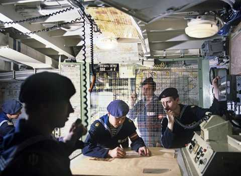 Bục thông tin trên tàu tuần dương tên lửa