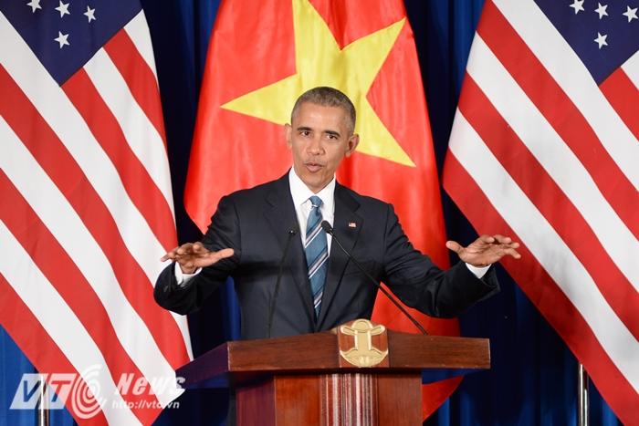 Tổng thống Obama luôn có những bài phát biểu khiến người nghe xúc động - Ảnh: Tùng Đinh