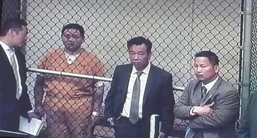 Minh Béo trong phiên điều trần diễn ra hôm 15.04.