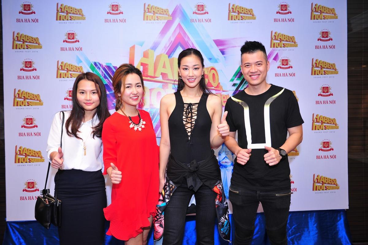 DJ Trang Moon, ca sỹ Maya, DJ Huy DX tại buổi họp báo