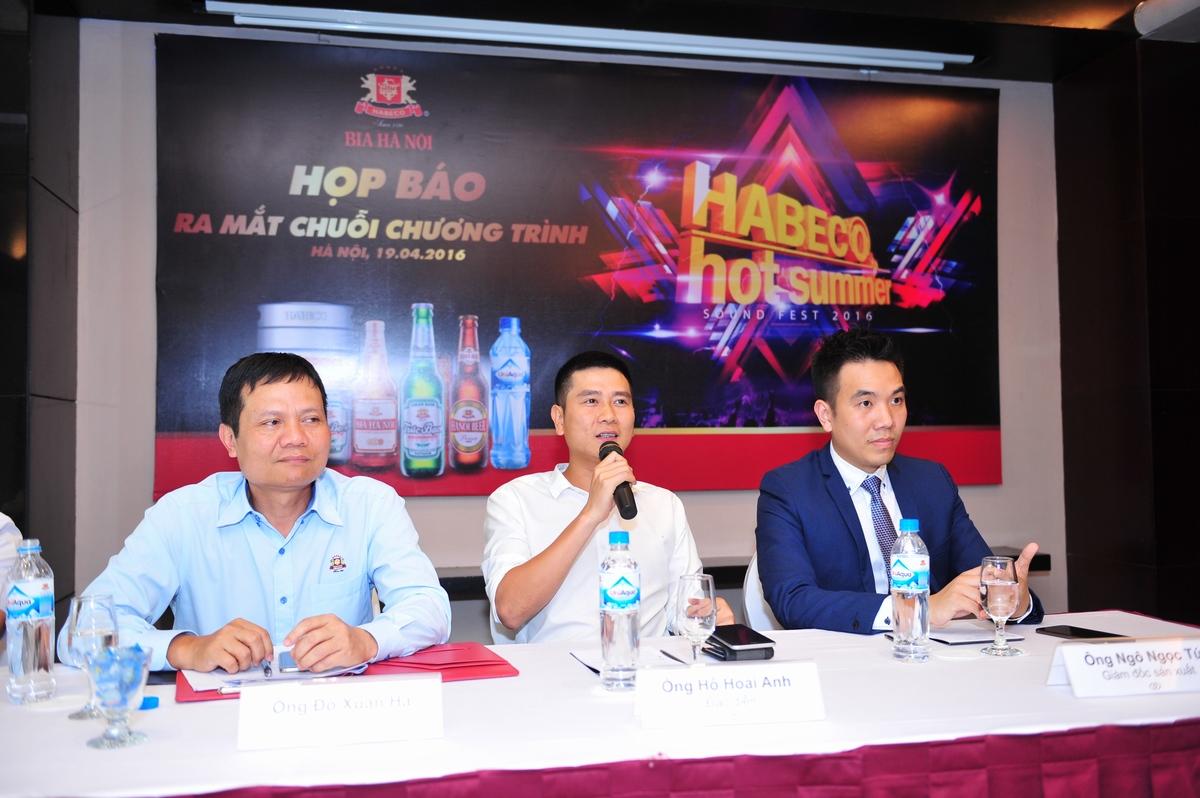 """Hồ Hoài Anh: Màu sắc chủ đạo của """"Habeco hot summer sound fest"""" là âm nhạc điện tử sôi động, thời thượng."""
