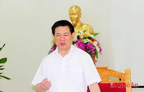 Ông Hồ Đức Phớc hiện là Uỷ viên Trung ương Đảng, Bí thư Tỉnh uỷ Nghệ An (ảnh: Nghean.gov.vn)