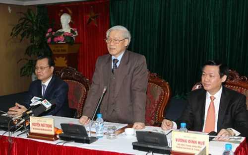 Ngay sau một năm tái lập, Tổng Bí thư Nguyễn Phú Trọng đã đến thăm, làm việc với Ban Kinh tế T.Ư, Tổng Bí thư đã đánh giá