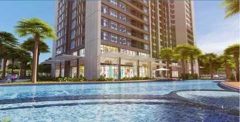 Hệ thống sinh thái xanh như vườn, bể bơi mang lại cuộc sống thư giãn trọn vẹn cho cư dân.