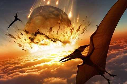 Khủng long bay khỏi hố thiên thạch
