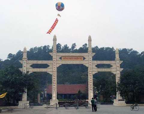 Chùa Hồng Phúc (Kiến An, Hải Phòng), nơi phật tử và nhân dân sẽ được chiêm bái Phật Ngọc Hòa bình Thế giới