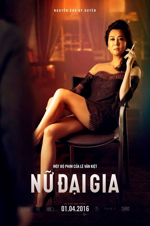 Hình ảnh Nguyễn Cao Kỳ Duyên cầm điếu thuốc sẽ không được dùng làm poster phim Nữ đại gia. Ảnh: ĐP