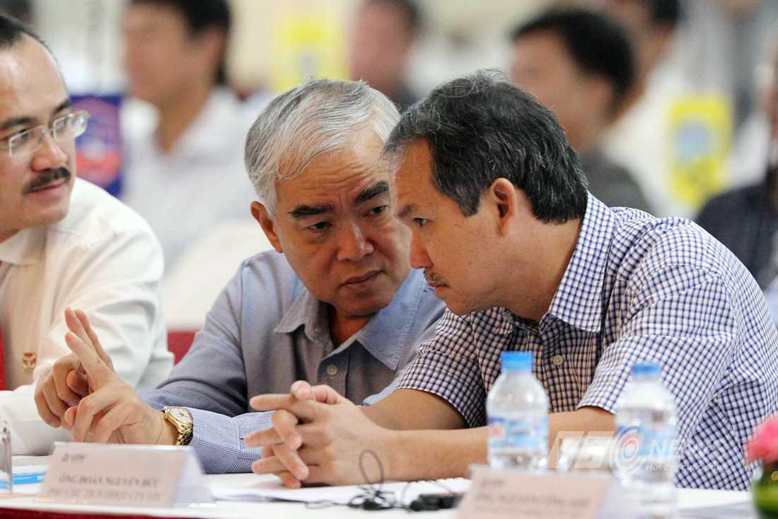 Chủ tịch VFF Lê Hùng Dũng và phó chủ tịch Đoàn Nguyên Đức