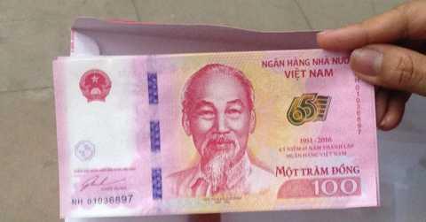 Tờ tiền 100 đồng lưu niệm