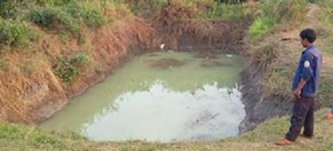 Hồ nước nơi xảy ra sự việc