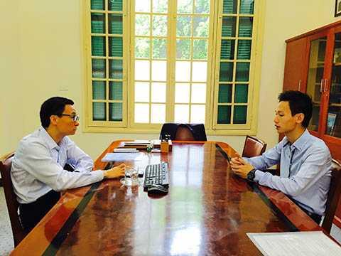 Phó Thủ tướng Vũ Đức Đam trực tiếp nghe Phạm Gia Vinh trình bày dự án khoa học đầy tham vọng của mình