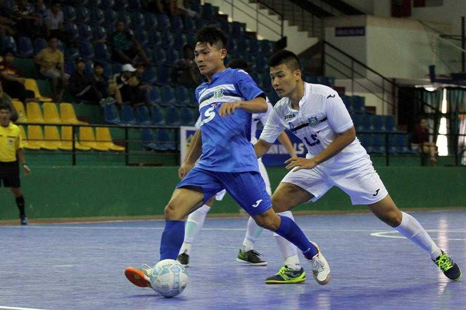 Thái Sơn Nam (áo xanh) vẫn đang thẳng tiến vững chắc trong cuộc đua đến ngôi vô địch, giải futsal VĐQG 2016 (ảnh: Hoàng Tùng)