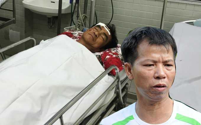 Sau ông Nén, ông Chấn cũng bị tai nạn giao thông phải nhập viện điều trị.