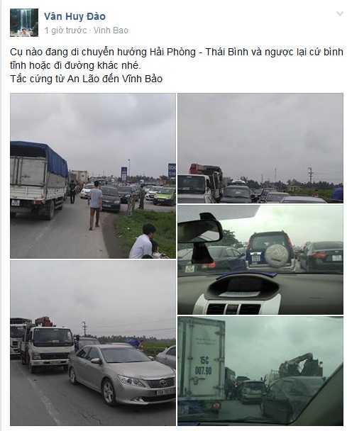 Nhiều người chia sẻ cảnh tắc đường để cảnh báo những người khác  (Ảnh chụp màn hình)