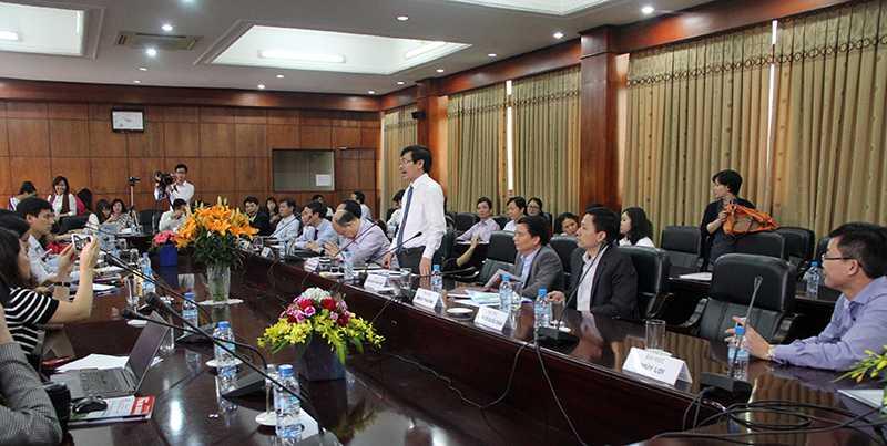 Đại học Bách khoa Hà Nội công bố thông tin về đề án tuyển sinh theo nhóm trường (Ảnh: Phạm Thịnh)