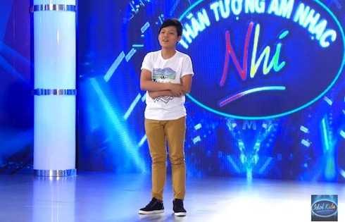Mai Chí Công tại vòng thử giọng Vietnam Idol Kids. Ảnh: Youtube