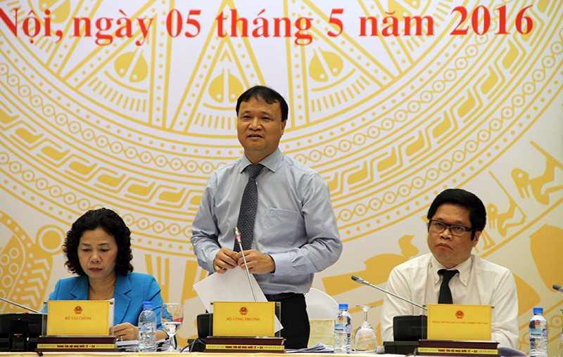 Ông Đỗ Thắng Hải - Thứ trưởng Bộ Công Thương trả lời tại buổi họp báo  (Ảnh: Phạm Thịnh)