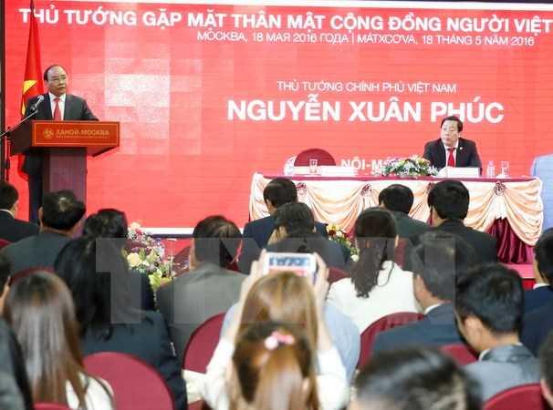 Thủ tướng Nguyễn Xuân Phúc phát biểu tại buổi gặp gỡ