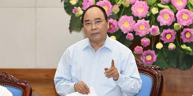 Thủ tướng Nguyễn Xuân Phúc chủ trì Hội nghị về An toàn vệ sinh thực phẩm (Ảnh: Chính phủ)
