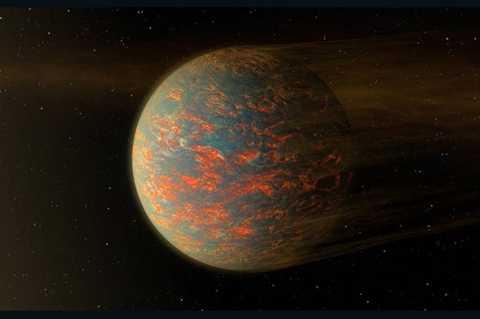 Hình minh họa của NASA về nhiệt độ trên hành tinh 55 Cancri e. Ảnh: NASA