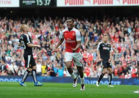 Alex Iwobi tiếp tục gây ấn tượng trong màu áo Arsenal