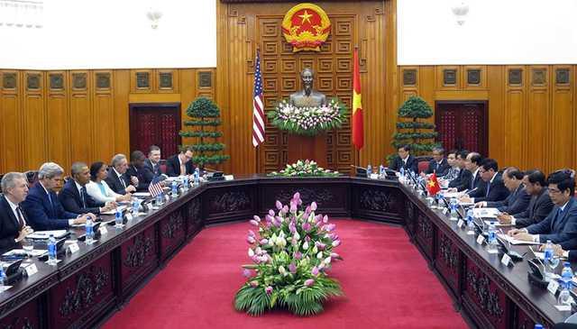 Quang cảnh buổi hội kiến với Thủ tướng Nguyễn Xuân Phúc (ảnh: Hoàng Hà/Zing)