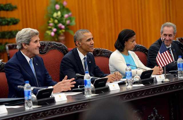 Ông Obama tại cuộc hội kiến Thủ tướng Chính phủ Nguyễn Xuân Phúc (Ảnh: Hoàng Hà/Zing)