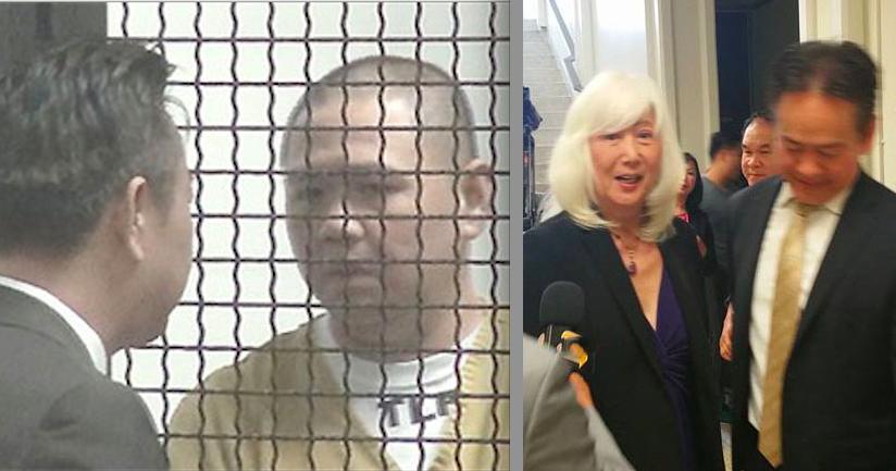 Luật sư người Mỹ gốc Nhật Mia Yamamoto trong phiên tòa thương lượng của Minh Béo.